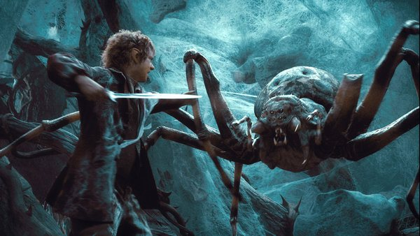 Image result for bilbo fights spiders