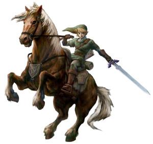link on horse back